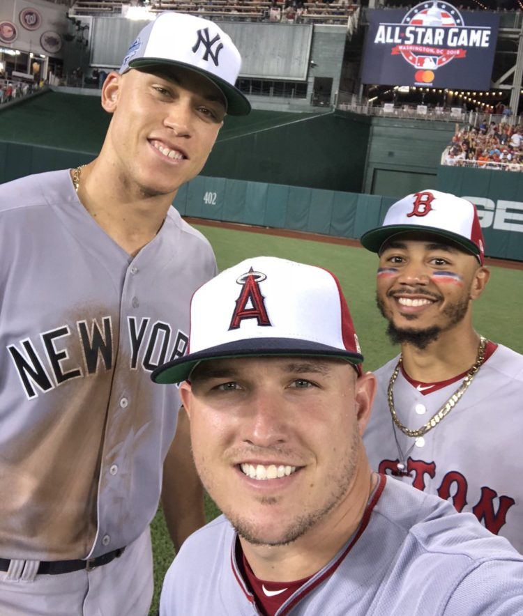 Mike Trout, Mookie Betts & Aaron Judge
